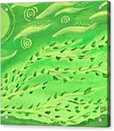 Green Wind Acrylic Print