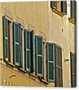 Green Window Shutters Of Florence Acrylic Print