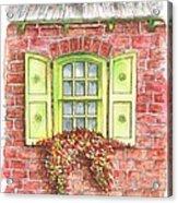 Green Window Acrylic Print
