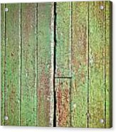 Green Wood Acrylic Print