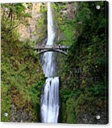 Greenery Of Multnomah Falls Acrylic Print
