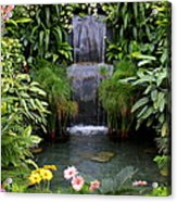 Greenhouse Garden Waterfall Acrylic Print