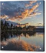 Greenlake Autumn Sunset Acrylic Print