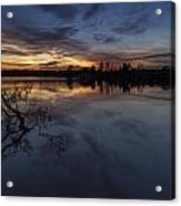 Greenlake Sunset With A Fallen Tree Acrylic Print