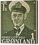 Greenland Stamp Circa 1950 Acrylic Print