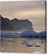Greenlandic Coast In Mist Acrylic Print