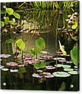 Greens On A Pond 2 Acrylic Print