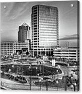 Greensboro Center City Park Bw Acrylic Print