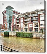 Greenville River Front Acrylic Print