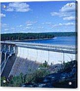 Greers Ferry Dam Acrylic Print by Edward Hamilton