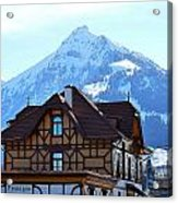 Greetings From Frutigen Acrylic Print