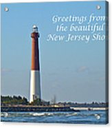 Greetings From The Beautiful New Jersey Shore - Barnegat Lighthouse Acrylic Print