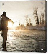 Greg Houska Fly Fishing On The Provo Acrylic Print