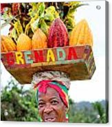 Grenada Spice Woman. Acrylic Print