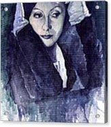 Greta Garbo Acrylic Print by Yuriy  Shevchuk