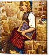 Gretel Brothers Grimm Acrylic Print