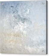Gathered - Grey And Beige Abstract Art Painting Acrylic Print