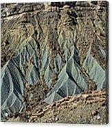 Grey Cliffs In Waterpocket Fold  Acrylic Print