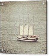 Gray Day And A Tall Ship Acrylic Print