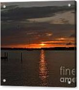 Grey Harbor Sunset  Acrylic Print