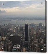 Grey Sky Over Manhattan Acrylic Print