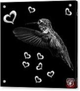 Greyscale Hummingbird - 2055 F M Acrylic Print
