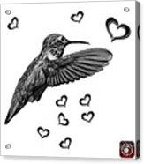 Greyscale Hummingbird - 2055 F S M Acrylic Print