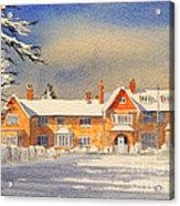 Griffin House School - Snowy Day Acrylic Print