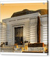 Griffith Observatory - Mike Hope Acrylic Print