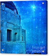 Griffith Park Observatory At Night Acrylic Print