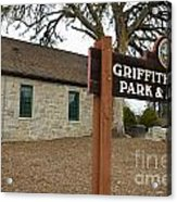 Griffith Quarry Park And Museum Penryn California Acrylic Print