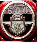 Grill Logo Detail - 1950s-vintage Ford 601 Workmaster Tractor Acrylic Print
