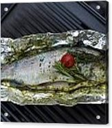 Grilled Trout On Barbecue Acrylic Print