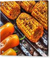 Grilling Corn And Peppers Acrylic Print