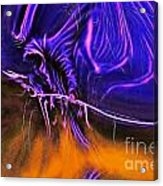 Grim Reaper In Abstract Acrylic Print