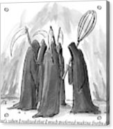 Grim Reapers Stand In A Circle Acrylic Print