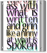 Grin Like A Ninny Acrylic Print
