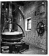 Grinder For Unmalted Barley In An Old Distillery Acrylic Print