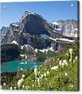 Grinnell Lake With Beargrass Acrylic Print