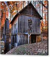 Grist Mill Under Fall Foliage Acrylic Print