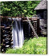 Grist Mill And Water Trough Acrylic Print