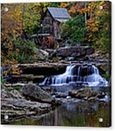 Grist Mill Falls Acrylic Print by Lone Dakota Photography