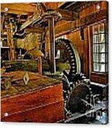 Grist Mill Gears Acrylic Print