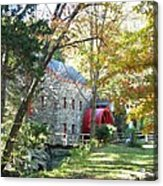 Grist Mill In Fall Acrylic Print