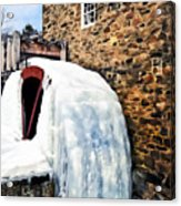 Grist Mill In Winter Acrylic Print