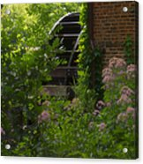 Grist Mill Wheel Vertical Acrylic Print
