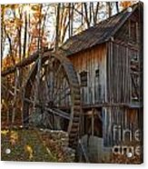 Grist Mill With A Golden Glow Acrylic Print
