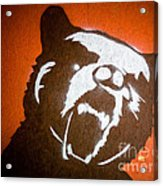 Grizzly Bear Graffiti Acrylic Print by Edward Fielding