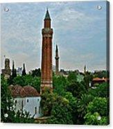 Grooved Minaret Fromthirteenth Century In Antalya-turkey Acrylic Print