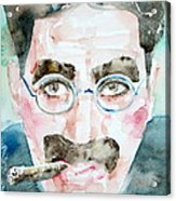 Groucho Marx Watercolor Portrait.1 Acrylic Print